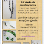 Introduction to Jewellery Making - Tuesday 10th October